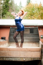Gaia Magick Photography, Courtenay Photographer, glamour portraits,, Maddy Sinclair, junk car shots