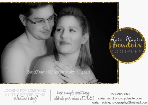 Gaia Magick Photography, Comox Valley, Couples Boudoir portraits, February Photography experince packages, Chrystal Rossler, Valentine's Gifts for him, Valentine gift for her, valentine celebration couples ideas