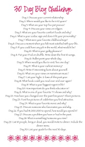 30 Day Challenge blog