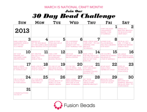 fusion beads 30 day challenge