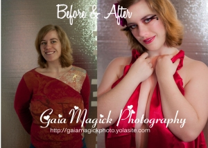 Gaia Magick Photography, Comox Valley, Glamour photography, beauty images, sexy ladies, Before and after make overs