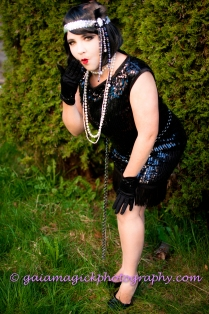 Gaia Magick Photography, Comox Valley, Glamour portraits, Chrystal Rossler, Gifts for him, feel good about yourself, Liza Duncan, 1920's Flapper