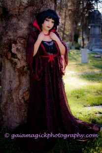 Gaia Magick Photography, Comox Valley, Glamour portraits, Chrystal Rossler, Gifts for him, feel good about yourself, Liza Duncan, Cute Vampire, baby doll vampire