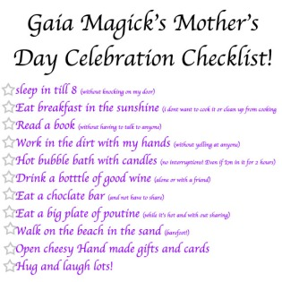 Mother's Day Checklist, How mom wants to celebrate mother's day, mothers day celebration check list for mom