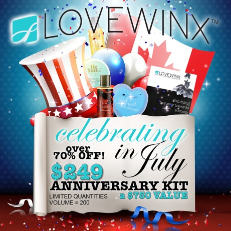 LOVEWINX, embrace you, chrystal rossler, anniversary kit, new consultant